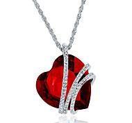 Жен. Ожерелья с подвесками Бижутерия В форме сердца Бижутерия Хрусталь Сплав Уникальный дизайн Мода Euramerican бижутерия Бижутерия