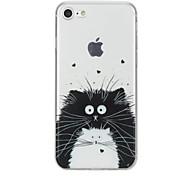 Назначение iPhone X iPhone 8 Чехлы панели С узором Задняя крышка Кейс для Кот Животное Мягкий Термопластик для Apple iPhone X iPhone 8