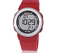 Жен. Детские Спортивные часы Смарт-часы Цифровой Защита от влаги Фосфоресцирующий Pезина Группа Белый Синий Красный Фиолетовый