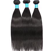 Ciocche a onde capelli veri Brasiliano dritto 12 mesi 3 pezzi tesse capelli