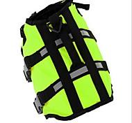 Собака Спасательные жилеты Одежда для собак Спорт Сплошной цвет Желтый Зеленый
