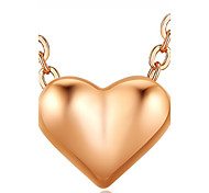 Thanksgiving Jewelry Pendant Necklaces Love Heart Women's Girls' Choker Chain Alloy Dangling Lovers Valentine Gift