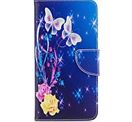 Para iphone 7plus 7 caixa de telefone material de couro PU padrão de borboleta amarelo caixa de telefone pintada 6s mais 6plus 6s 6 se 5s