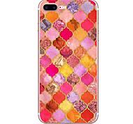Для яблока iphone 7 7 плюс 6s 6 плюс чехол для крышки красный бриллиант узор hd окрашенный материал tpu мягкий чехол для телефона