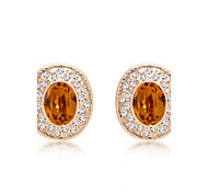 Women's Earrings Jewelry Euramerican Fashion Personalized Crystal Rhinestones Alloy Jewelry Jewelry For Wedding Party Anniversary 1 Pair