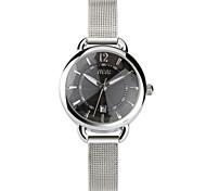 Women's Fashion Watch Quartz Stainless Steel Band Silver