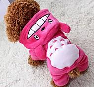 Кошка Собака Плащи Толстовки Комбинезоны Брюки Одежда для собак Косплей Сохраняет тепло Хэллоуин Животные Серый Розовый Коричневый