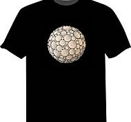 T-shirt con LED 100% cotone Novità 2 batterie AAA