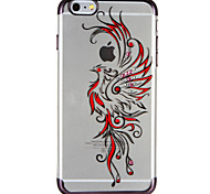 Case for Apple iPhone 7 7Plus Cartoon Phoenix Rhinestone Transparent Pattern Soft TPU Back Case for iPhone 6s Plus e 6 Plus  6s  6