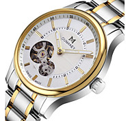Men's Fashion Watch Mechanical Watch Quartz Automatic self-winding Calendar Water Resistant / Water Proof Alloy Band Silver