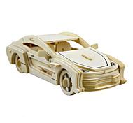 Пазлы 3D пазлы Строительные блоки Игрушки своими руками Автомобиль Дерево Модели и конструкторы
