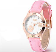 Women's Fashion Watch Quartz Leather Band White Red Gold Pink