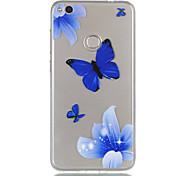 Para huawei p8 lite (2017) p9 lite telefone capa tpu material borboleta padrão alívio telefone caso p8 lite