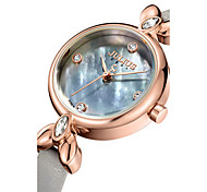 Women's Fashion Watch Quartz Water Resistant / Water Proof Leather Band Casual Black White Blue Brown Grey