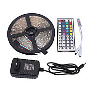 Light Bar set 5M 3528 300LED Waterproof RGB 44 key Remote Control 12V 3A Power Supply
