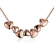 Women's Choker Necklaces Pendant Necklaces Jewelry Cubic Zirconia Heart GeometricRose Gold Crystal Copper Gold Plated Zinc Alloy Chrome