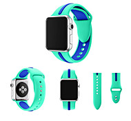 42/38MM Silicone For Apple Watch Band Double Color Sport Band for Apple Watch Silicone Band