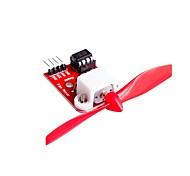 Модуль управления двигателем вентилятора l9110 с пропеллером для конструкции роботизированного пожаротушения arduino
