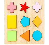 Educational Flash Cards Pegged Puzzles For Gift  Building Blocks Square Wooden 1-3 years old Toys