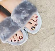 24pcs десерт серии поддельные ногти полный ногтей советы ложные советы ногтей маникюрный салон украшения DIY шоколад декор маникюр макияж