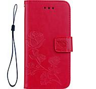 Для iphone 7 плюс 7 роз 3d тисненый узор ручной канат стиль pu кожаный материал корпус для телефона 6s плюс 6 плюс 6s 6 se 5s 5