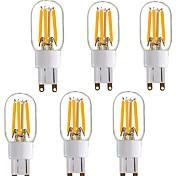 4W Двухштырьковые LED лампы T 4 COB 350 lm Тёплый белый V 1 человек