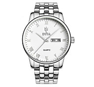 Men's Fashion Watch Quartz Automatic self-winding Calendar Water Resistant / Water Proof Alloy Band Silver Gold Rose Gold