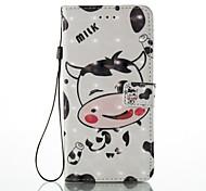 Для iphone 7 плюс 7 3d эффект коров модель pu материал кошелек отделение телефон корпус 6 плюс 6s 5 se