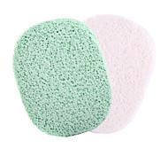 Natural Wood Pulp Fiber Beauty Exfoliating Scrub Clean Face Powder Puff