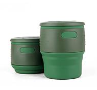 Чашки для путешествий / чашка Складной Посуда в дорогу для Складной Посуда в дорогу Бежевый Красный Зеленый Синий
