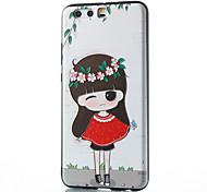 Для huawei mate 8 mate 9 pro чехол для девочки маленькая девочка рельеф tpu материал телефон чехол p10 p9 p8 lite 2017 6x nova v9