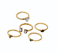 Women's Ring Natural Personalized Simple Style Alloy Jewelry 147 Party Birthday Event/Party 1Set