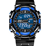 Men's Fashion Watch Digital Rubber Band Black