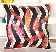 1 Pcs Top Grade Emulation Silk Striped Leaf Pillow Case 3D Fashion Pillow Cover
