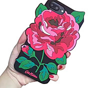 For Apple iPhone 7 7 Plus 6S 6 Plus Case Cover Peony Silica Gel Drop Phone Case