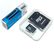 32GB MicroSDHC TF Memory Card with all in one USB Card Reader and SDHC SD Adapter