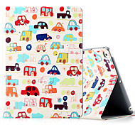 Per iPad ipad (2017) ipad air 2 custodia in pelle ipad shockproof con stelo modello flip modello pieno corpo cartoon hard pu leather