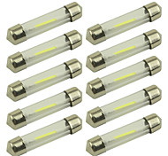10pcs COB Reading Light C5W 36mm  Car Interior Glass Lens Festoon Dome Reading White Color Led Car Lamp DC12V