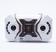 Drone 127 Canal 4 6 Eixos - Iluminação De LED Retorno Com 1 Botão Vôo Invertido 360°Quadcóptero RC Controle Remoto 1 Manual 1 Cabo