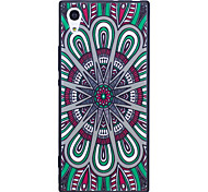 Sony Xperia XA1 XZ  Case Cover National Wind Disk Pattern Painted Embossed Feel TPU Soft Case Phone Case