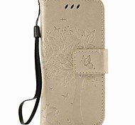 For Apple ipod touch 5 touch 6 Case Cover Card Holder Wallet with Stand Flip Embossed Pattern Full Body Case Tree Hard PU Leather