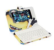 Для крышки корпуса с подставкой с клавиатурой флип-шаблона полный корпус корпуса мультфильм жесткая кожа pu для универсального iphone 7
