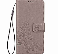 For Google Pixel Pixel XL Case Cover Card Holder Wallet with Stand Flip Magnetic Embossed Pattern Full Body Case Solid Color Hard PU Leather