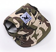 Кошка Собака Банданы и шляпы Одежда для собак Спорт камуфляж полоса Красный/Белый Белый / синий Белый/Розовый Цвет-леопард