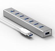 Blueendless h702u3 usb3.0 5,0 Гбит / с 7 портов 0,6 м кабель-концентратор с адаптером питания