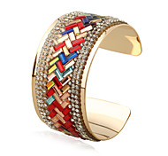 Жен. Браслет цельное кольцо Браслет разомкнутое кольцо Мода Панк Rock Радужный Готика Железный сплав Металлический сплавГеометрической