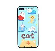 Чехол для iphone 7 7 плюс мультфильм cat tpu защита задняя крышка чехол для 6s 6splus 6 6plus