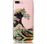Case for apple iphone 7 plus 7 phone case tpu материал imd процесс волны шаблон hd флеш-память телефон корпус 6 с плюс 6 плюс 6s 6 5s 5 se