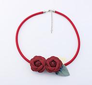 Жен. Ожерелья-бархатки В форме цветка Кожа Богемия Стиль Euramerican Мода Бижутерия Назначение Для вечеринок Повседневные