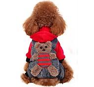 Собака Костюмы Плащи Толстовки Брюки Одежда для собак Для вечеринки Косплей Мода Хэллоуин Медведи Желтый Красный